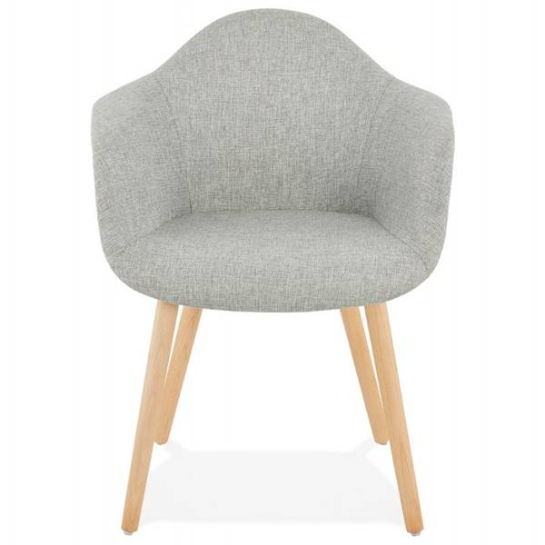 chaise grise scandinave