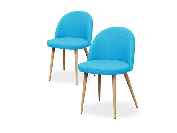 chaise scandinave en tissu
