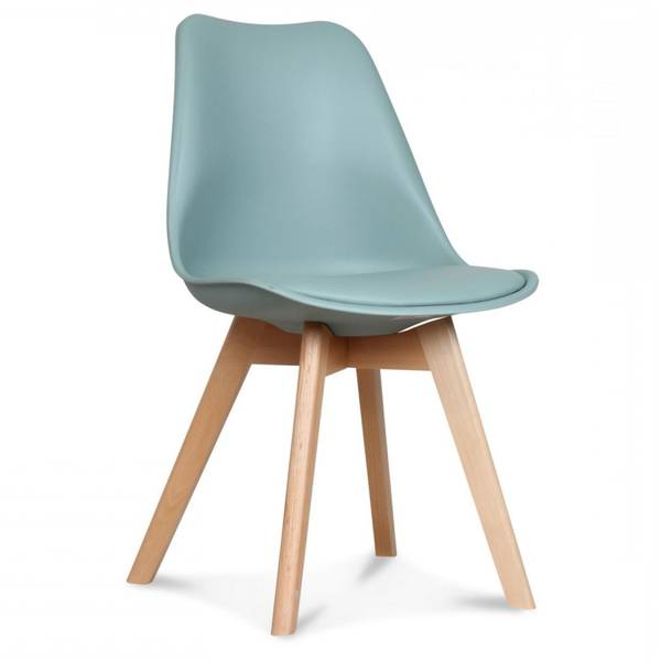 chaise scandinave turquoise
