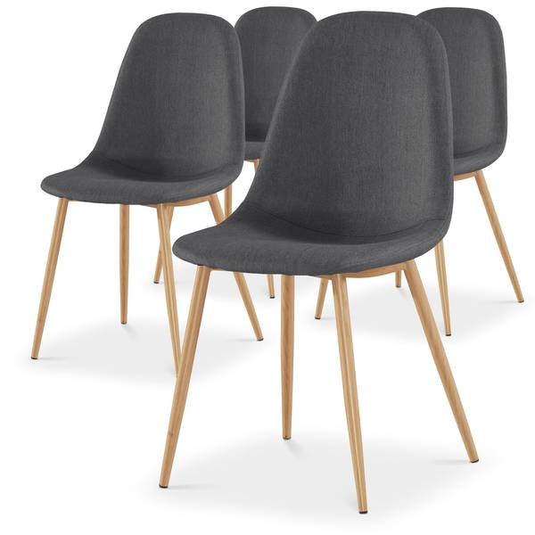chaise scandinave coloree