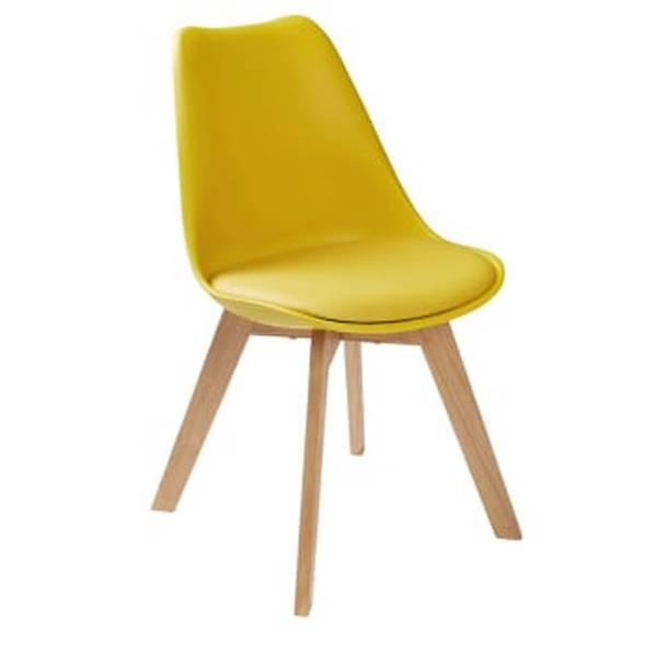 chaise scandinave jaune moutarde