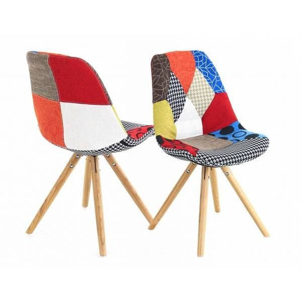 chaise patchwork scandinave